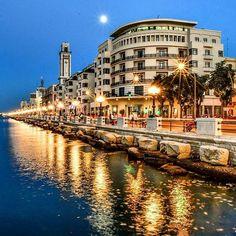 The beautiful Lungomare di Bari Il bellissimo Lungomare di Bari #Lungomare #Bari…