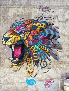 After several days of work, Farid Rueda has just finished working on a brand new piece in Playa Del Carmen, Mexico.: