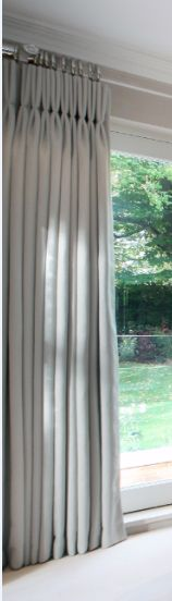 pespex pole and simple triple pleat curtains