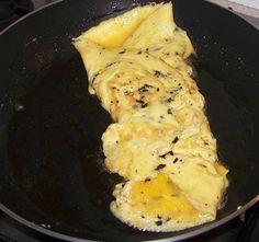 Bien baveuse cette omelette aux truffes est un vrai régal !
