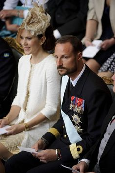 With Prince Haakon of Norway. Christening of Princess Estelle of Sweden