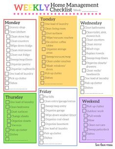 A FREE checklist for successful, stress-free home management. It includes daily cleaning duties and other household tasks.Household Management Checklist, cleaning schedule, household duties, home management