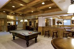 Basement Great Room and Pool Table