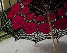 Adventures in dyeing a lace parasol, Part 2 « Faire Treasures ...