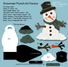 Alex's Creative Corner: Christmas in July - in the Meadow we can build a Snowman Curvy Keepsake die creation Paper Punch Art, Punch Art Cards, Christmas Punch, Winter Cards, Keepsake Boxes, Scrapbook Cards, Scrapbooking, Homemade Cards, Stampin Up Cards