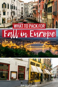 The Ultimate Packing List for Europe: Fall Edition – Our Escape Clause – Best Europe Destinations Fall Packing List, Ultimate Packing List, Packing For Europe, Europe Travel Guide, Backpacking Europe, Europe Destinations, Travel Packing, Packing Checklist, Packing Tips