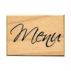 Tampon Mariage mot menu élégant