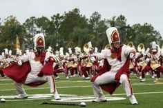 The Bethune-Cookman Marching Band performs at halftime during B-CU's homecoming game with Morgan State at Municipal Stadium in Daytona Beach, Saturday, Nov. 5, 2011. (Nigel Cook)