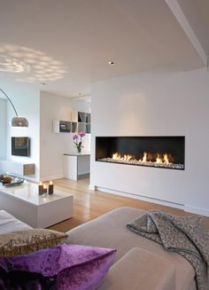 contemporary fireplace ideas on world of architecture Twenty Modern Fireplace Ideas architecture photo Home Interior, Modern Interior, Interior Design, Home Living Room, Living Spaces, Fireplace Design, Fireplace Ideas, Fireplace Modern, Contemporary Fireplaces