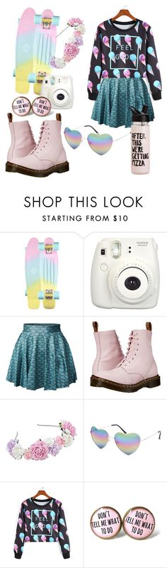 """""""I can't belive I made this"""" by raisa2003 ❤ liked on Polyvore featuring Fujifilm, Dr. Martens, Full Tilt and WithChic"""