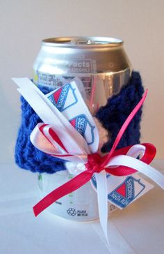 New York RANGERS Hockey Fans Handmade Can Cozy  by ZZsTeamTime