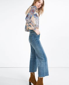EMBROIDERED CROPPED TOP - View All - TOPS - WOMAN   ZARA United States