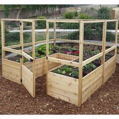 Outdoor Living Today Raised Cedar Garden Bed with Deer Fencing Kit - 8 x 8 ft. - Raised Bed & Container Gardening at Hayneedle