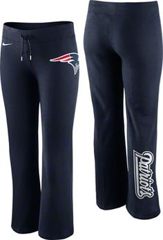 New England Patriots Women's Navy Nike Tailgater Fleece Sweatpant