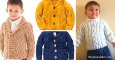 Preciosas chompas para niño tejido a dos agujas/Curso tutorial paso a paso Men Sweater, Turtle Neck, Sweaters, Fashion, Happiness, Templates, Sweater Cardigan, Moda, Sweater