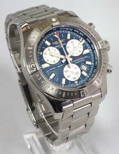 Breitling Colt Chronograph A73388 Blue Dial Gents Watch Breitling Wristwatch Box · $1,412.27 Breitling Colt, Chronograph, Watches, Amazon, Box, Accessories, Etsy, Shopping, Amazons