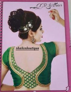 Designer blouse designs with beautiful ideas for neck and back. Browse latest blouse models, saree, patterns online on Happy Shappy Patch Work Blouse Designs, Simple Blouse Designs, Stylish Blouse Design, Fancy Blouse Designs, Blouse Neck Designs, Blouse Styles, Dress Designs, Choli Designs, Henna
