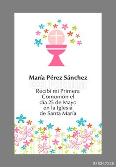 Vector: MI PRIMERA COMUNION First Communion, Religious Art, Holidays And Events, Fall Decor, Stationery, Birthday Parties, Scrapbook, Invitations, Frame