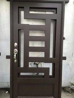 Front Gate Design, Door Gate Design, Main Door Design, Blinds For Bifold Doors, Hollow Metal Doors, Exterior Door Trim, Window Grill Design, Garage Door Makeover, Wrought Iron Doors