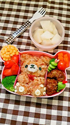 A bear within a bear...bear-ception! So cute! :) #bento #kawaii
