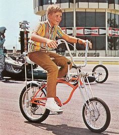 Schwinn Orange Crate — These were the coolest 5-speed, stick-shift bikes. Couldn't come close to affording it then, not now.