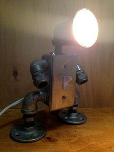 Interruptor lámpara robot por JosephBarral en Etsy