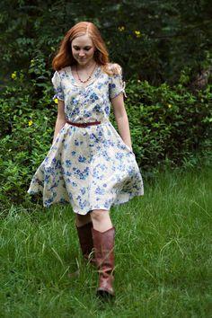 The Clara Dress Sewing Pattern van SewLiberatedPatterns op Etsy