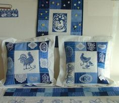 Advanced Embroidery Designs. Quilted Pillows with Embroidery.