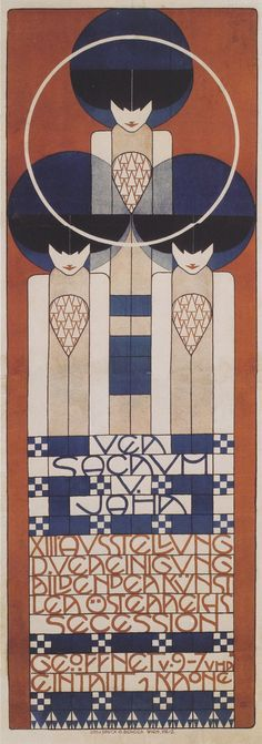 Koloman Moser poster for the secessionists, 1902