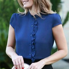 I love the ruffle detail - subtle, but it makes the blouse stand out.