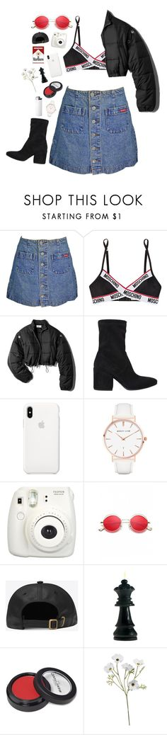 """""""Moschino"""" by mode-222 ❤ liked on Polyvore featuring Moschino, 3.1 Phillip Lim, Strategia, Abbott Lyon, Fujifilm and Manic Panic NYC"""