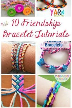 10 Friendship Bracelet Tutorials FYI by Tina Crafts For Teens, Crafts To Make, Fun Crafts, Arts And Crafts, Teen Girl Crafts, Tape Crafts, Making Friendship Bracelets, Diy Friendship Bracelets Patterns, Friendship Crafts