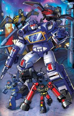 Soundwave and friends by ~Dan-the-artguy