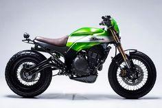 'Urban X' Kawasaki Ninja 650 –by @smoked_garage_ | Full build story now up on pipeburn.com | @scramblerstrackers #kawasaki #ninja #scrambler #pipeburn