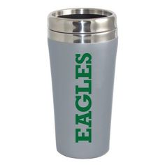 Eastern Michigan Swoop Double Walled Travel Tumbler, Silver