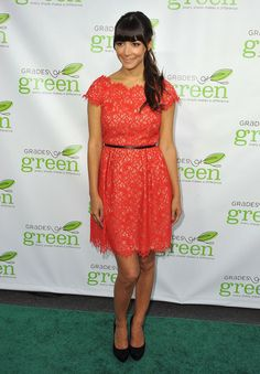 Actress Hannah Simone attends VERTE, Grades of Greens annual fundraising event to benefit environmental education at Bel-Air Bay Club on April 11, 2013 in Pacific Palisades, California.