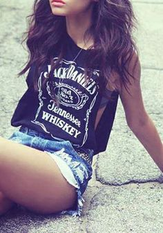 summer outfits. love me some jack daniels