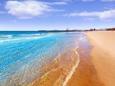 Beautiful Gandia playa in Valencia, Spain Valencia Spain Beach, Backpacking Spain, Spain Culture, Where Do I Go, South Of Spain, Spain Holidays, Spain Travel, Trip Planning, The Good Place