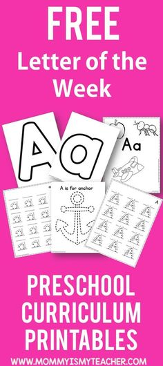 Wow look at all these free letter of the week preschool printables! They are great for preschool homeschool and preschool activities at home!
