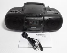 Vintage 1996 Panasonic RX-DS7 Radio Cassette Player Recorder CD Player Boombox #Panasonic Audio, Ebay Shopping, Cassette, Boombox, Electronics, Vintage, Vintage Comics, Consumer Electronics