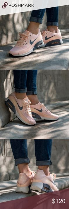 """Nike Light Peach Air Max 90 Ultra 2.0 Sneakers •Light peach Air Max sneakers. Official color is """"Sunset Tint"""".  •Women's size 7, true to size.  •Sample from Nike HQ, like new condition.  •No trades, no holds. Nike Shoes Sneakers"""