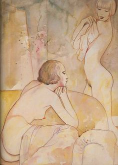 nude drawing of two women