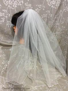 Wedding Veil Elbow Length Bridal Veil Single Tier by MisManos
