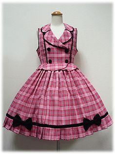 Angelic Pretty » Jumper Skirt » Twinkle School Tartan JSK