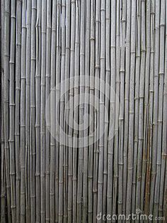 Weathered bamboo wall with cracks.