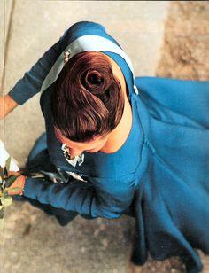 royaltydaily via estellehbic: Hair detail of Crown Princess Victoria of Sweden