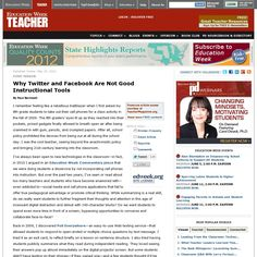 Why Twitter and Facebook are not Good Instructional Tools