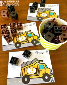Construction theme centers for Kindergarten. Six fun and engaging activities to help students build words, sentences, numbers and more!