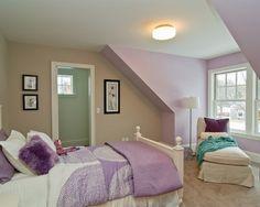 déco intérieur Pastel | Dormitorio juvenil en color lila y blanco. Una habitación iluminada y ...