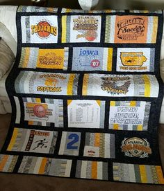 Sew Quilt Make your T-shirt quilt extra special with these out-of-the-box ideas. - Make your T-shirt quilt even more special by adding your own creative flair! These six T-shirt quilt ideas might give you some inspiration. Beginner Quilt Patterns, Quilting For Beginners, Quilt Patterns Free, Quilting Projects, Quilting Designs, Sewing Projects, Quilting Ideas, Sewing Ideas, Crafty Projects